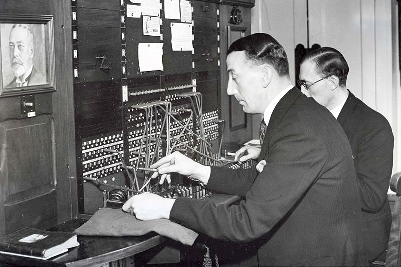 تاریخچه تلفن سانترال